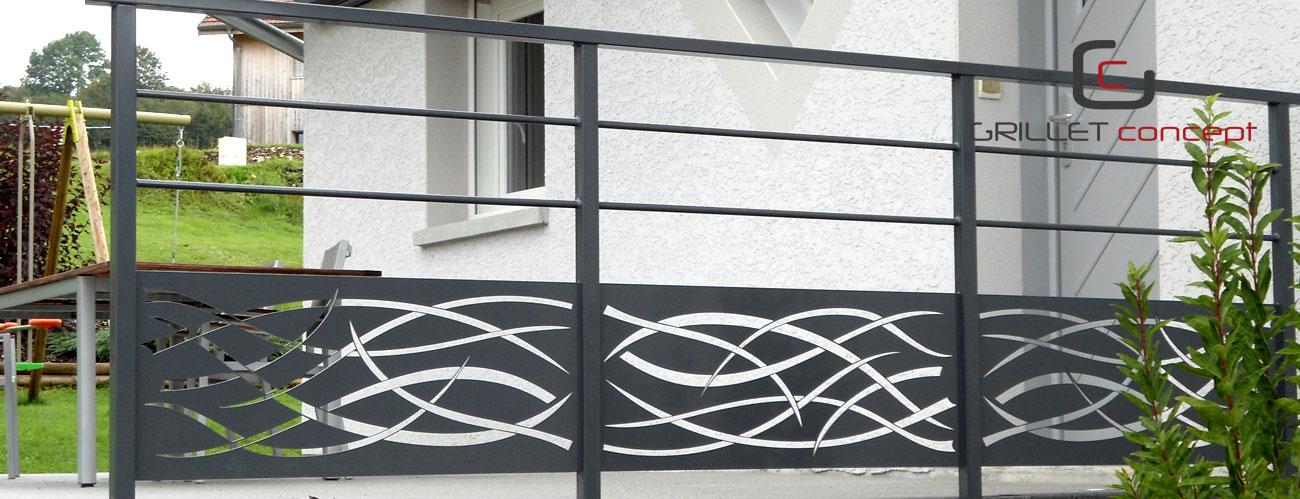 escalier m tal bois verre garde corps portail exterieur. Black Bedroom Furniture Sets. Home Design Ideas